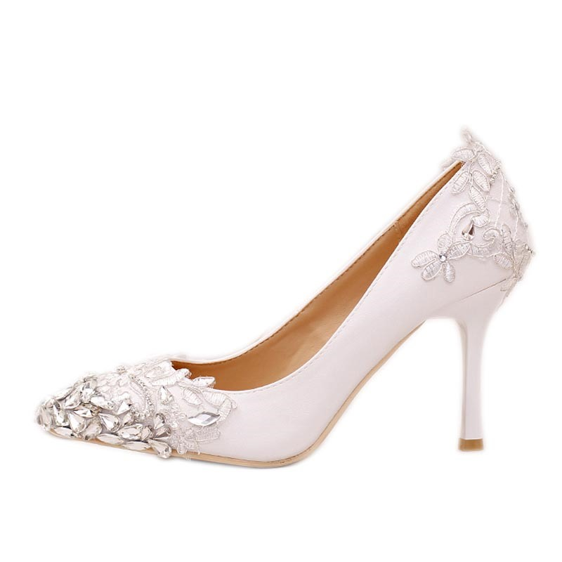 Ericdress Rhinestone Pointed Toe Slip-On Wedding Shoes