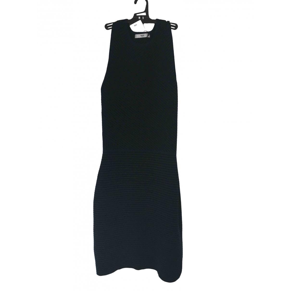 Mango \N Kleid in  Blau Viskose