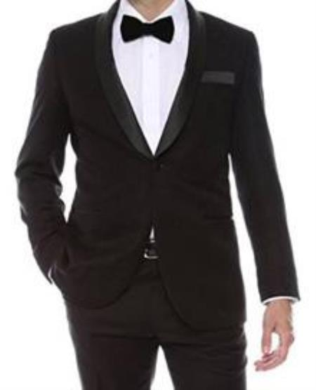 Floral Mens Satin Shiny Tuxedo Dinner Jacket Black Blazer