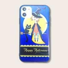 iPhone Schutzhuelle mit Halloween Katze Muster