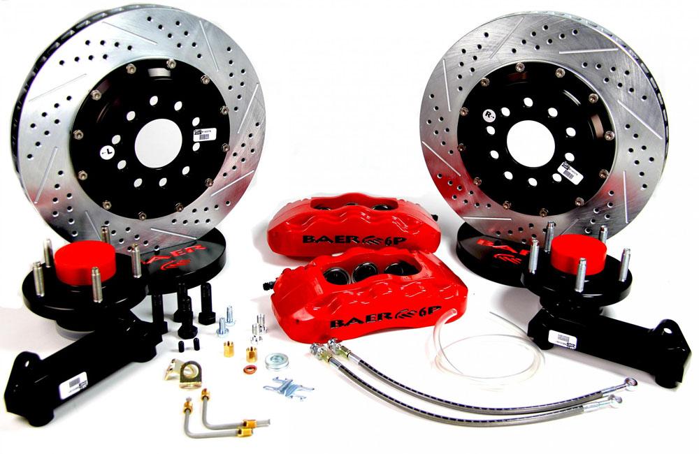 Baer Brakes Brake System 14 Inch Front Pro+ Red 68-72 F100 2WD For Drum Spindles