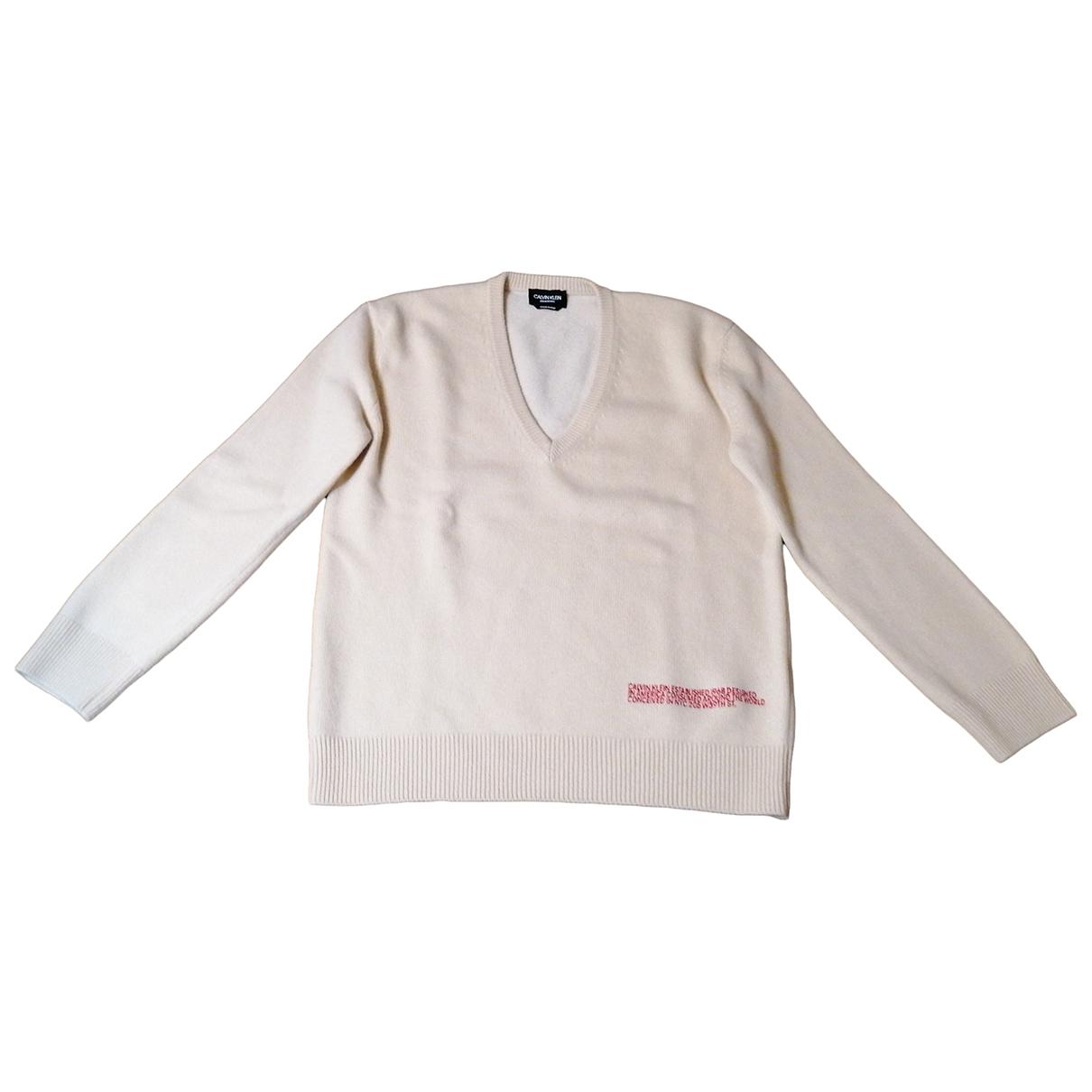 Calvin Klein 205w39nyc \N Pullover.Westen.Sweatshirts  in  Beige Kaschmir