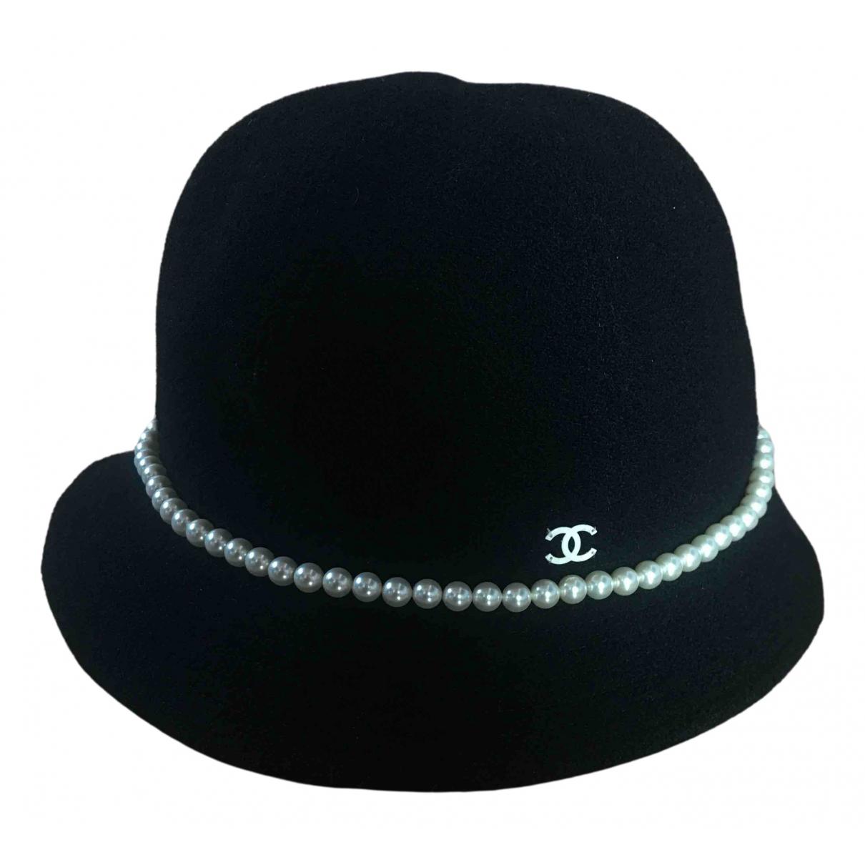 Chanel - Chapeau   pour femme en laine - noir