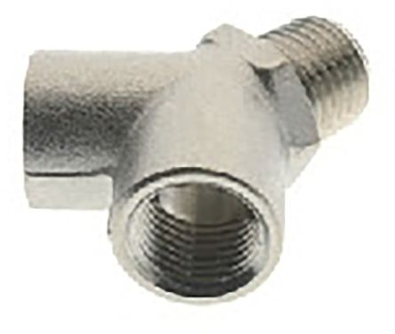 RS PRO Pneumatic Double Y Threaded-to-Tube Adapter (10)