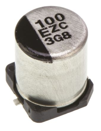 Panasonic 100μF Hybrid Capacitor 25V dc, Surface Mount - EEHZC1E101XP (2)
