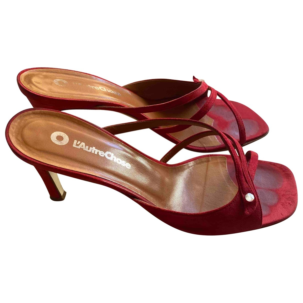 Non Signé / Unsigned \N Red Suede Sandals for Women 37 EU