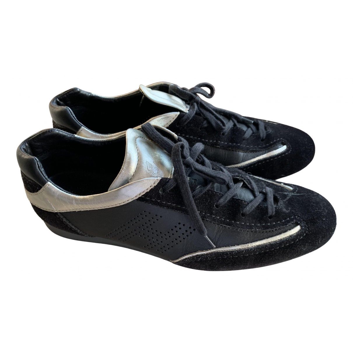 Hogan \N Sneakers in  Schwarz Veloursleder