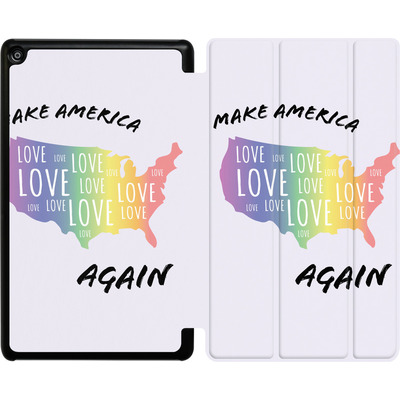 Amazon Fire HD 8 (2018) Tablet Smart Case - Make America Love Again von caseable Designs