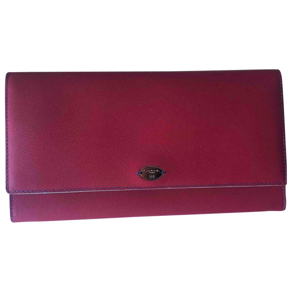 Lancel - Portefeuille   pour femme en cuir - rose
