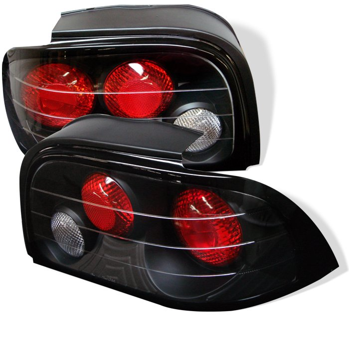 Spyder Altezza Black Tail Lights Ford Mustang 94-95
