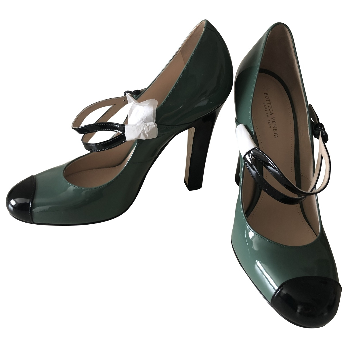Bottega Veneta \N Green Patent leather Heels for Women 38.5 EU