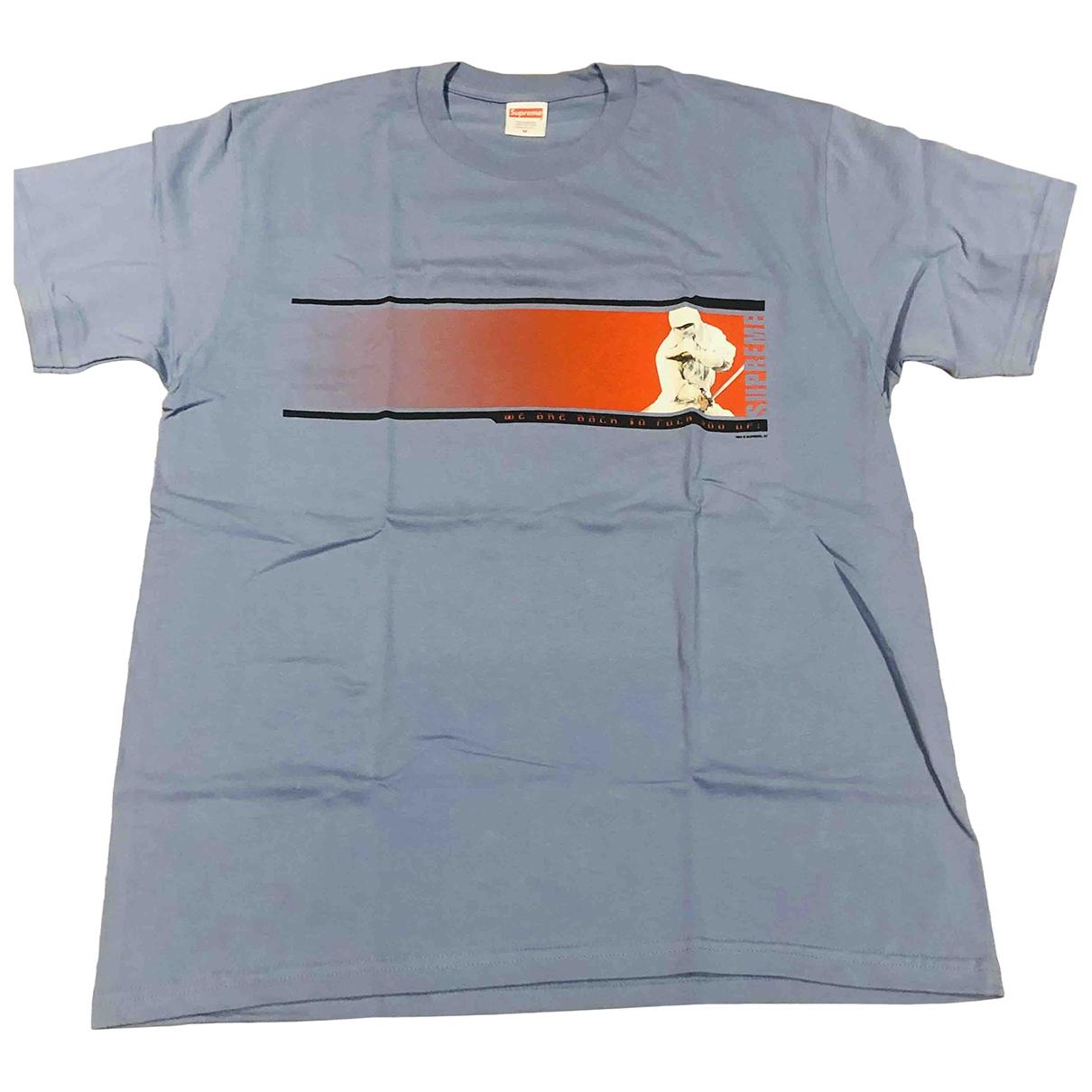 Supreme - Tee shirts   pour homme en coton - turquoise