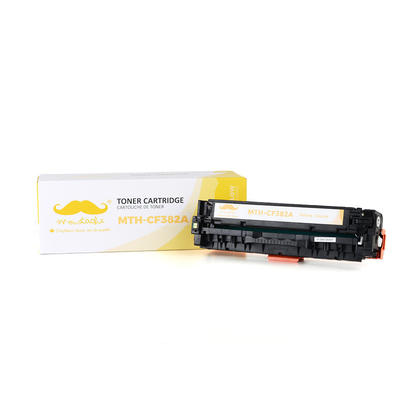 Compatible HP 312A CF382A Yellow Toner Cartridge - Moustache@