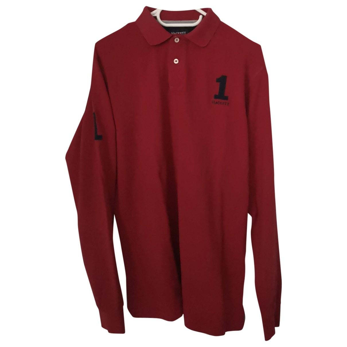 Hackett London \N Red Cotton Polo shirts for Men M International