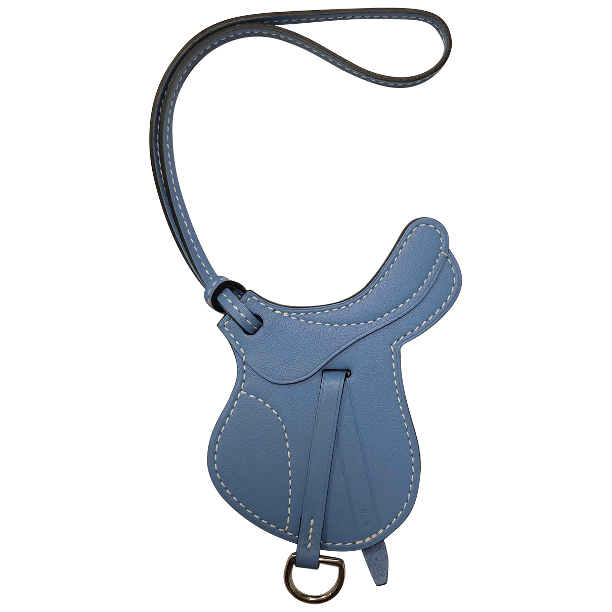 Hermès Paddock Blue Leather Bag charms for Women \N