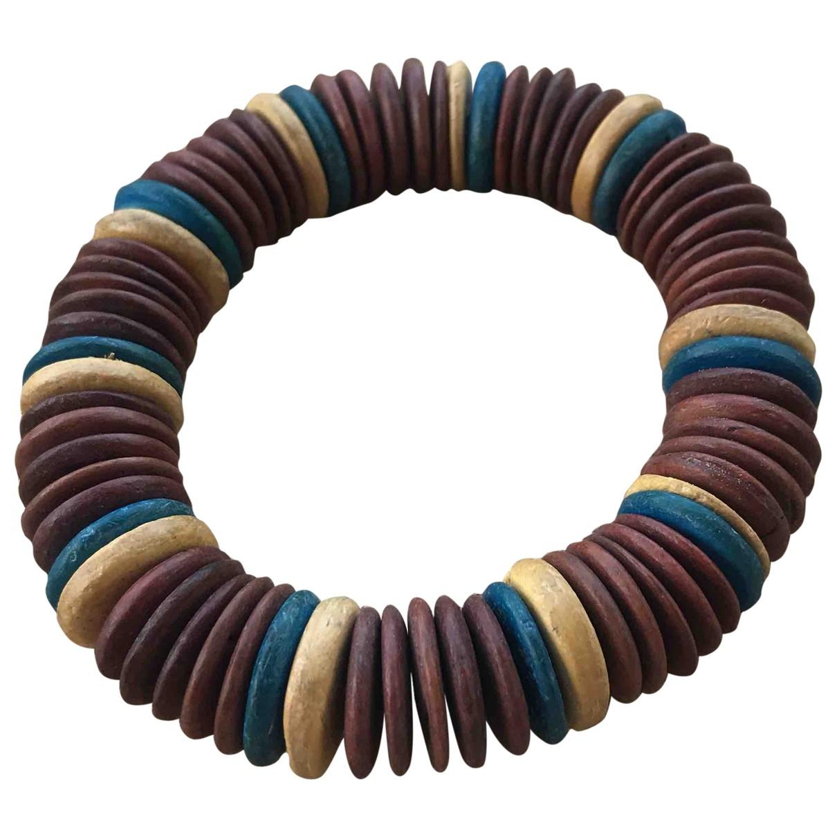 - Bracelet Motifs Ethniques pour femme en bois - marron