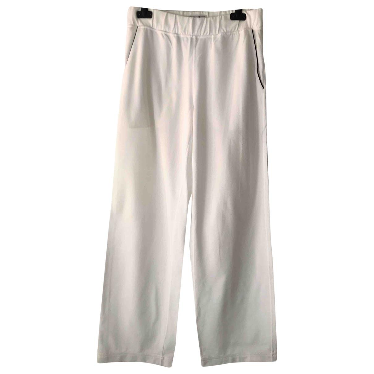 Hermes - Pantalon   pour homme en coton - blanc