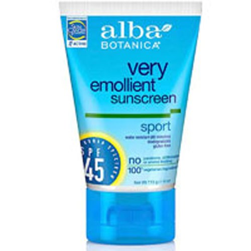 Sunscreen Sport SPF 45, 4 oz by Alba Botanica