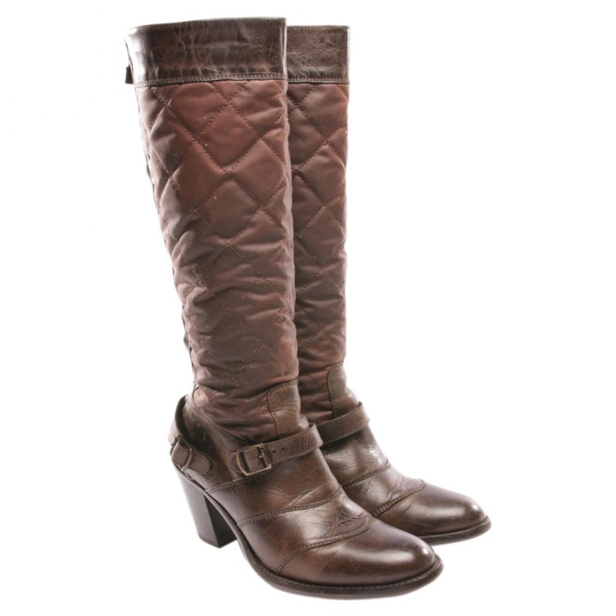 Belstaff \N Brown Leather Boots for Women 36 EU