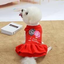 1 Stueck Hund Kleid mit Lutscher & Buchstaben Grafik