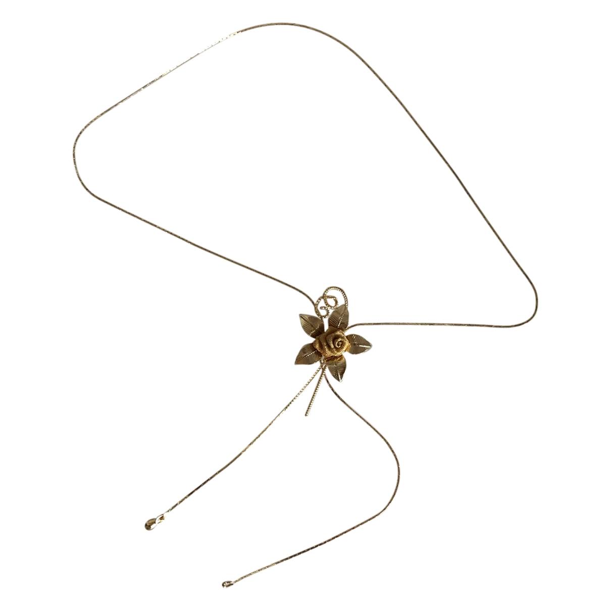 Non Signé / Unsigned Motifs Floraux Gold Metal necklace for Women \N