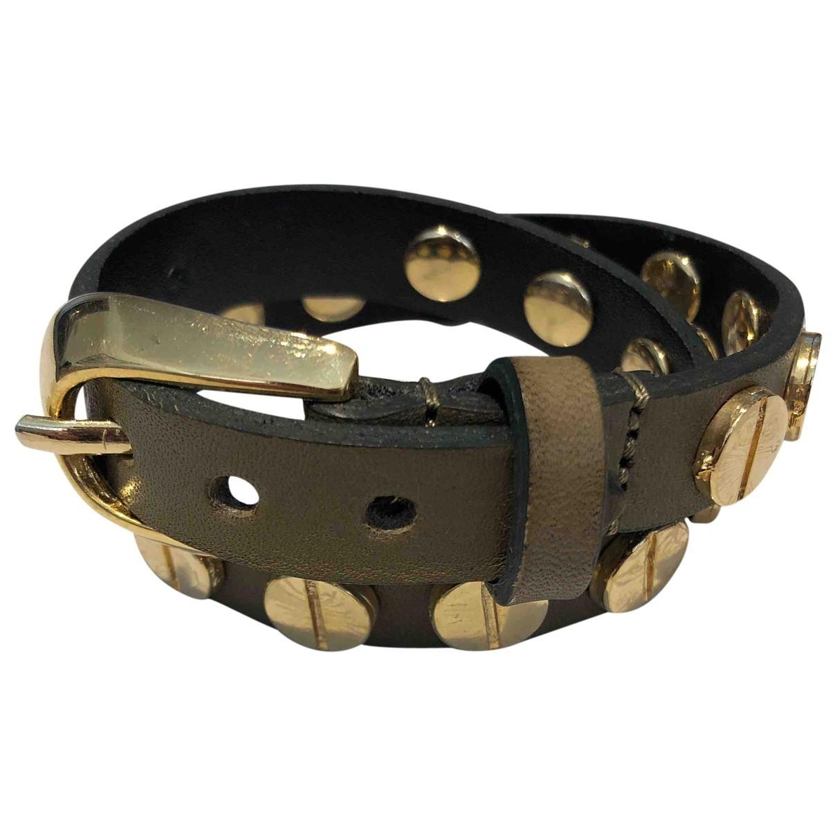 - Bracelet   pour femme en cuir - kaki