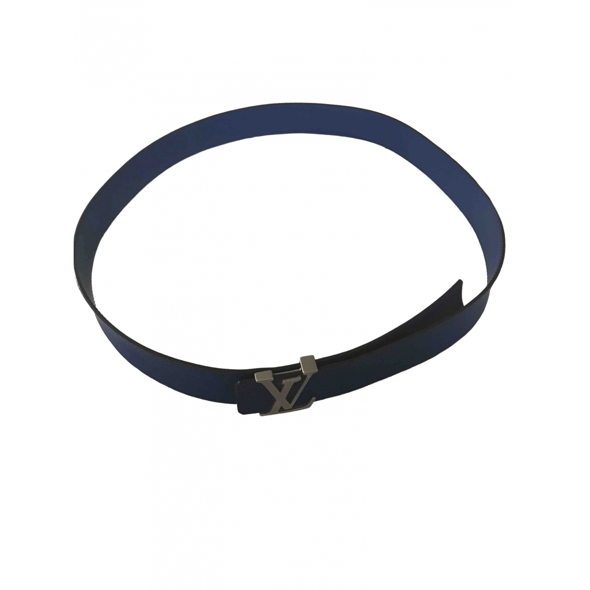 Louis Vuitton \N Blue Leather belt for Men 39 Inches