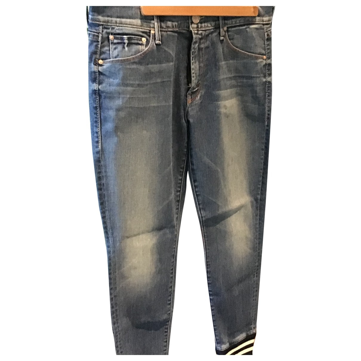 M\N Blue Cotton - elasthane Jeans for Women 28 US