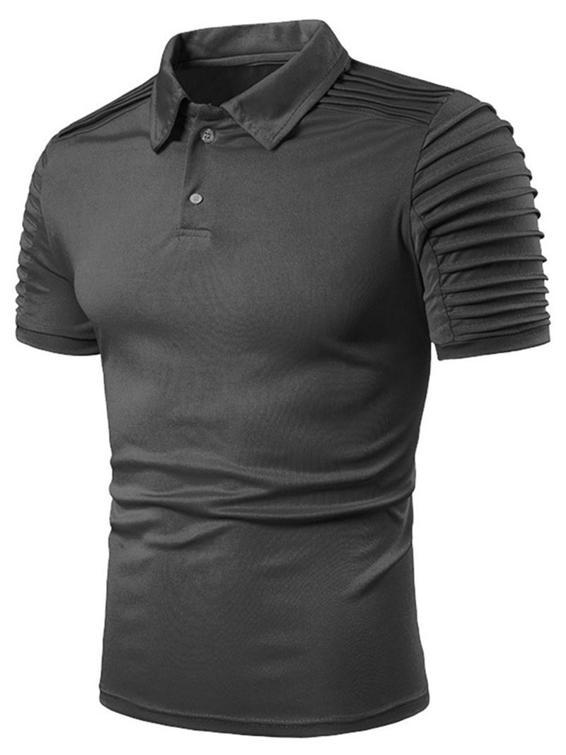 Ericdress Plain Polo Neck Casual Polo Shirt