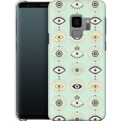 Samsung Galaxy S9 Smartphone Huelle - Evil Eyes Mint von Cat Coquillette