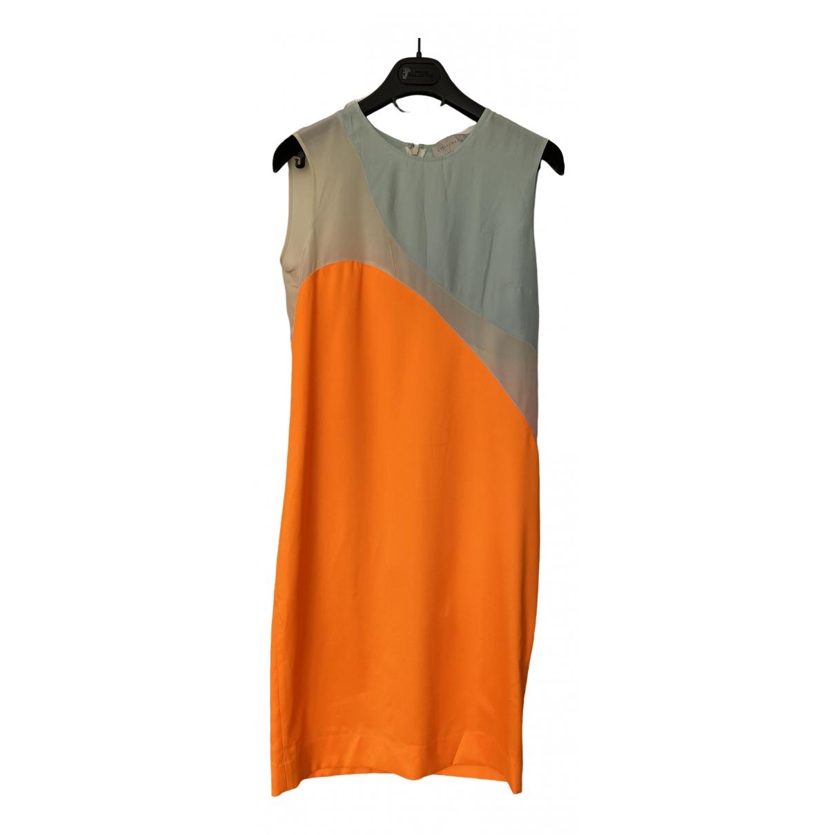 Stella Mccartney \N Kleid in  Orange Seide