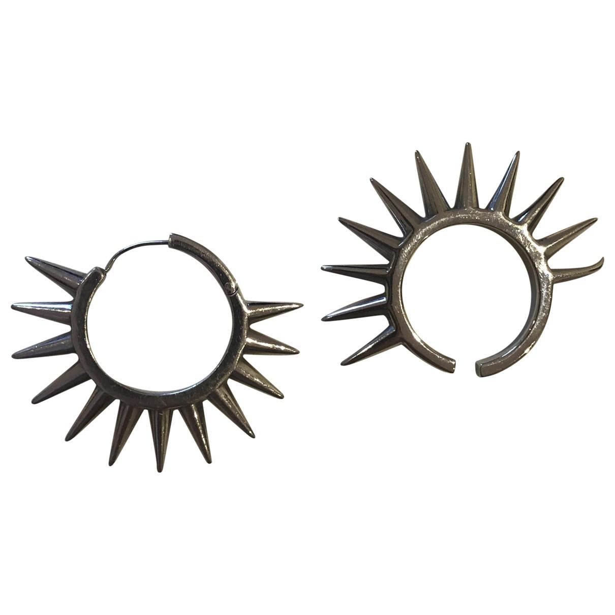 Alan Crocetti - Boucles doreilles   pour femme en metal - argente
