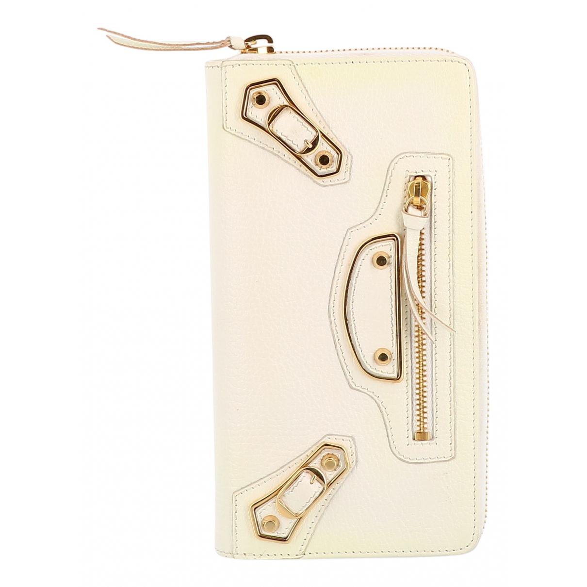Balenciaga - Petite maroquinerie   pour femme en cuir - blanc