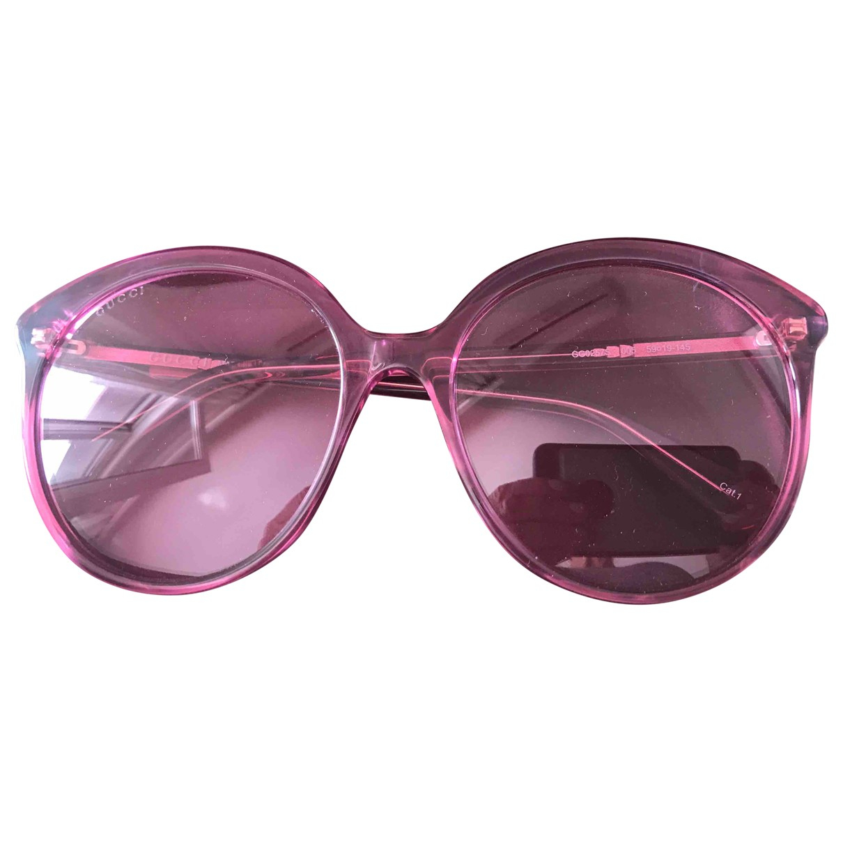 Gucci \N Sonnenbrillen in  Rosa Kunststoff