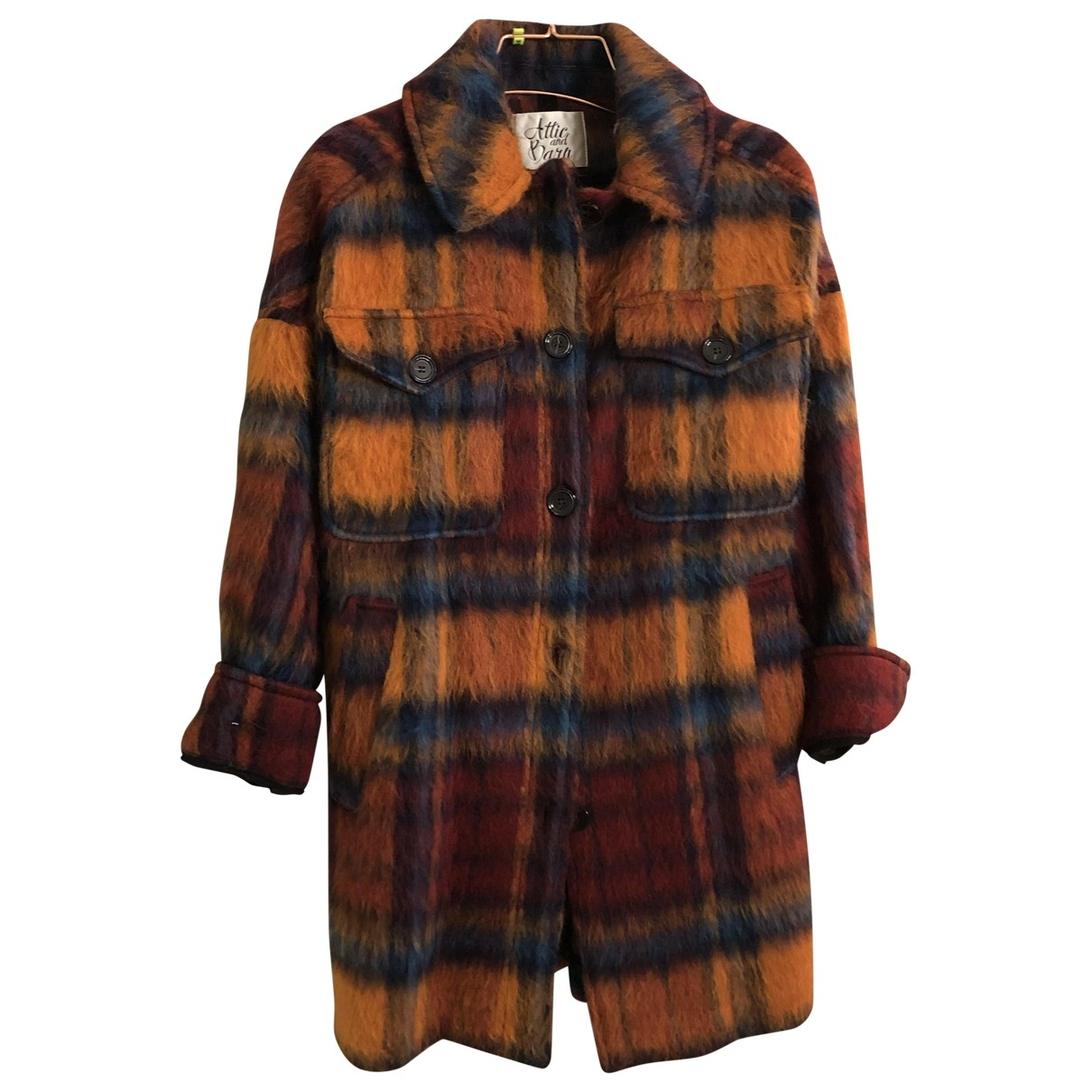 Attic And Barn \N Multicolour Wool coat for Women 42 IT