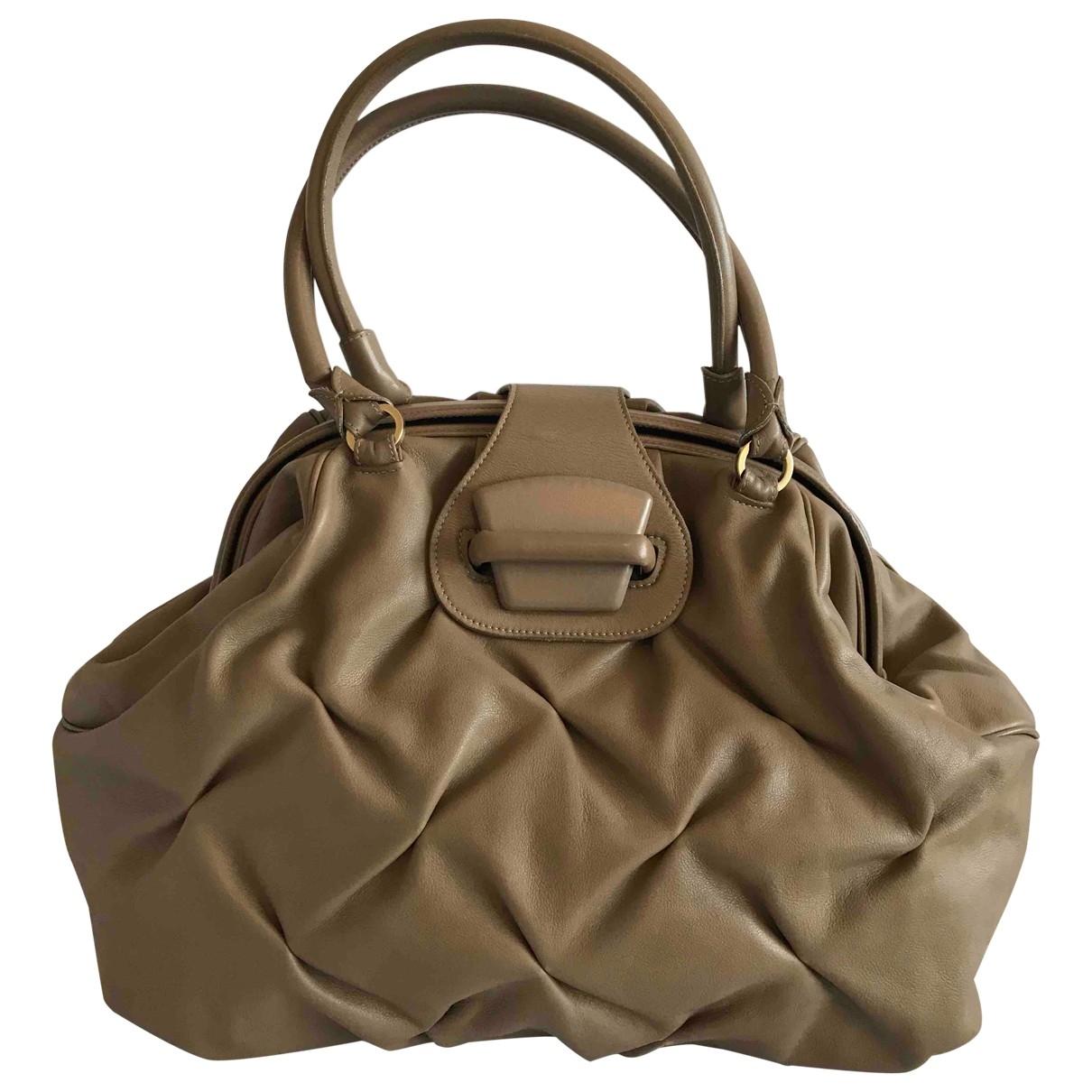 Smythson \N Handtasche in  Beige Leder
