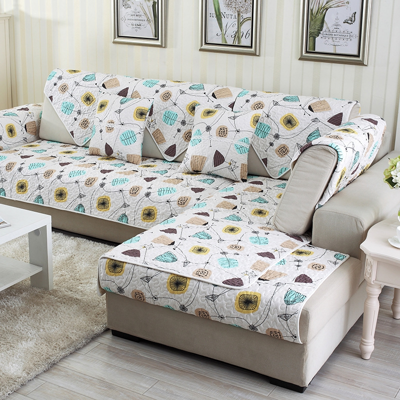 White Simple Style Home Decorative Non Slip Cushion Washable Sofa Covers