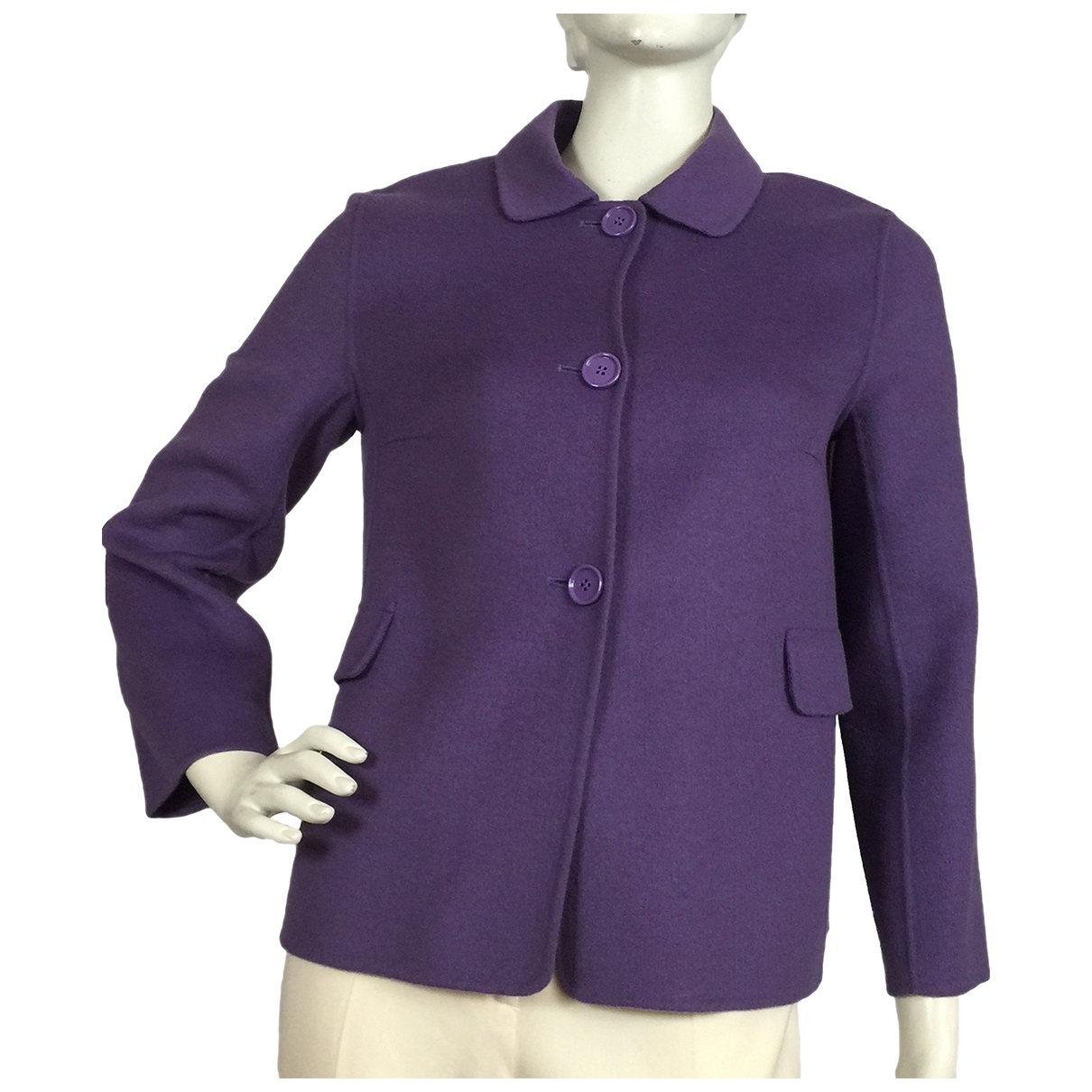 Max Mara s \N Purple Wool jacket for Women 40 FR