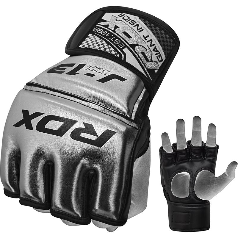 RDX J13 Junior MMA Grappling Gants Argent