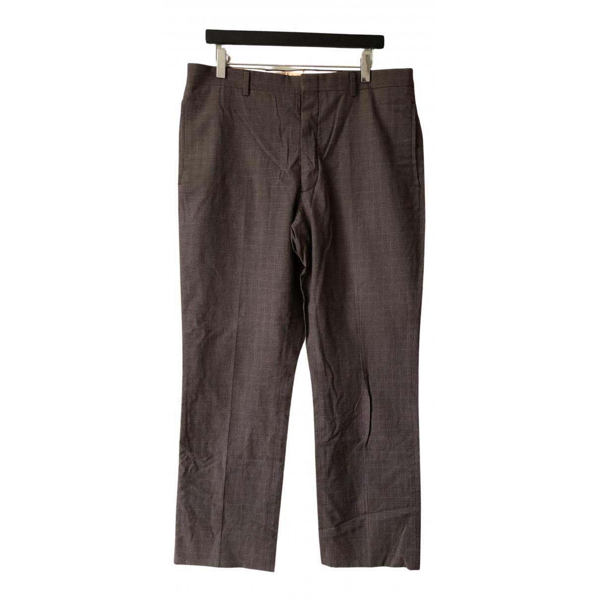 Miu Miu N Brown Cotton Trousers for Men 52 IT