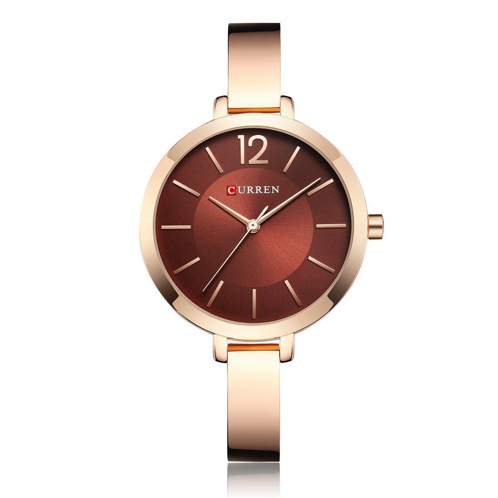 Alloy Case Casual Style Women Bracelet Watch Gift Waterproof Quartz Watch