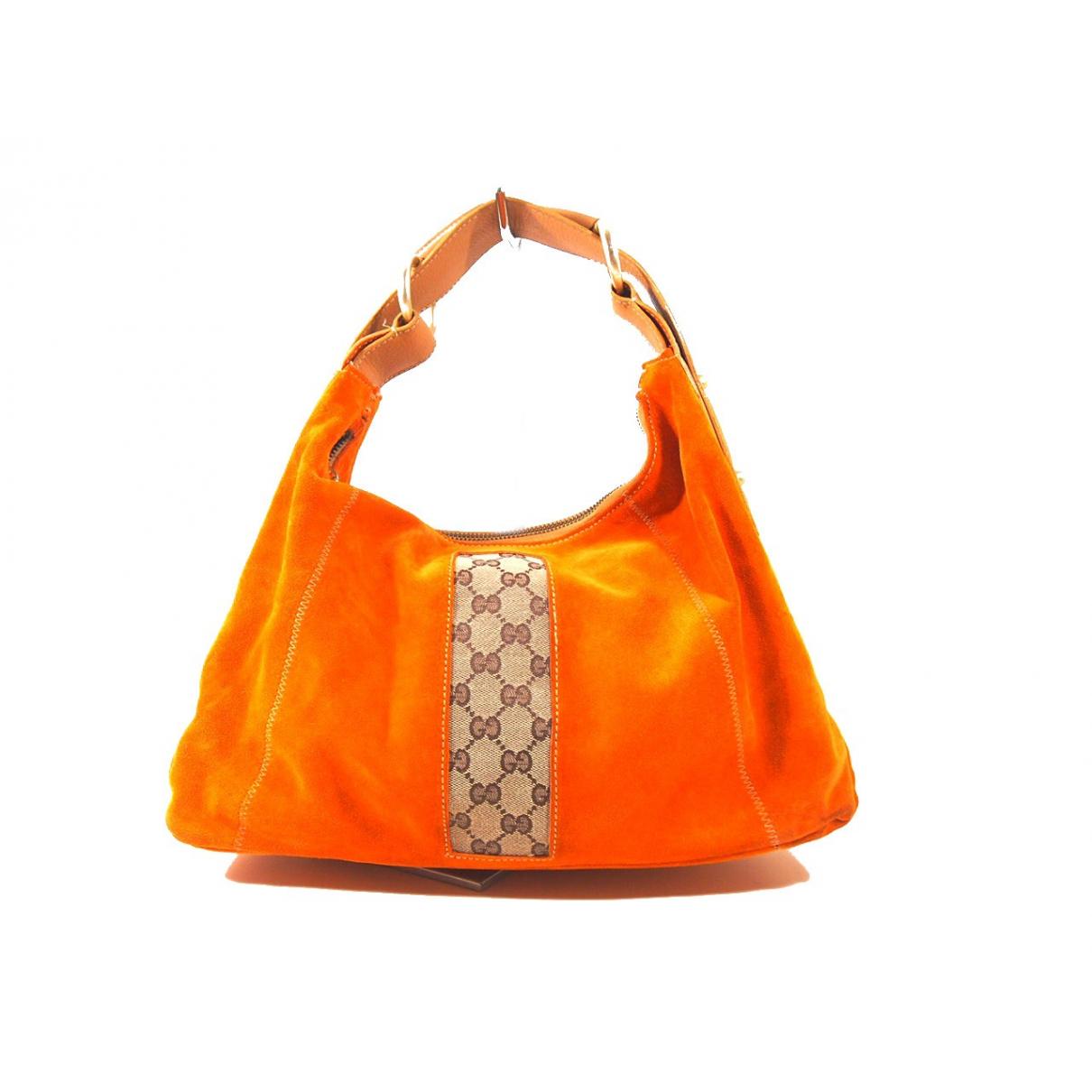 Gucci \N Handtasche in  Orange Veloursleder