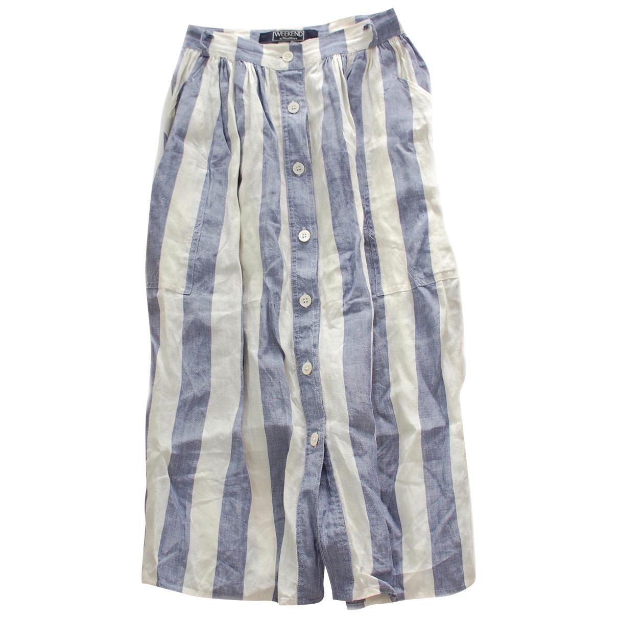 Max Mara Weekend \N Multicolour Linen skirt for Women 38 IT