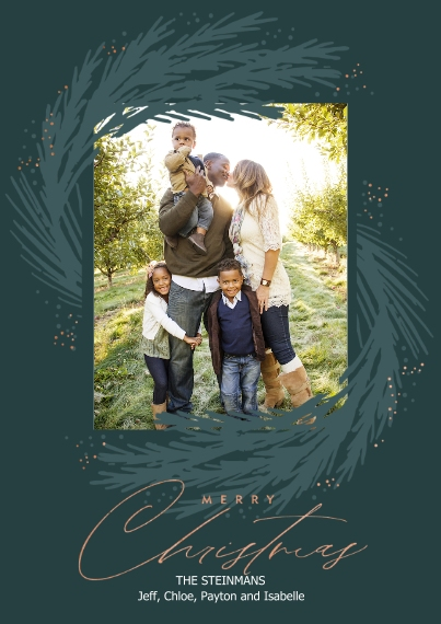 Christmas Photo Cards 5x7 Cards, Standard Cardstock 85lb, Card & Stationery -Greenery Sway