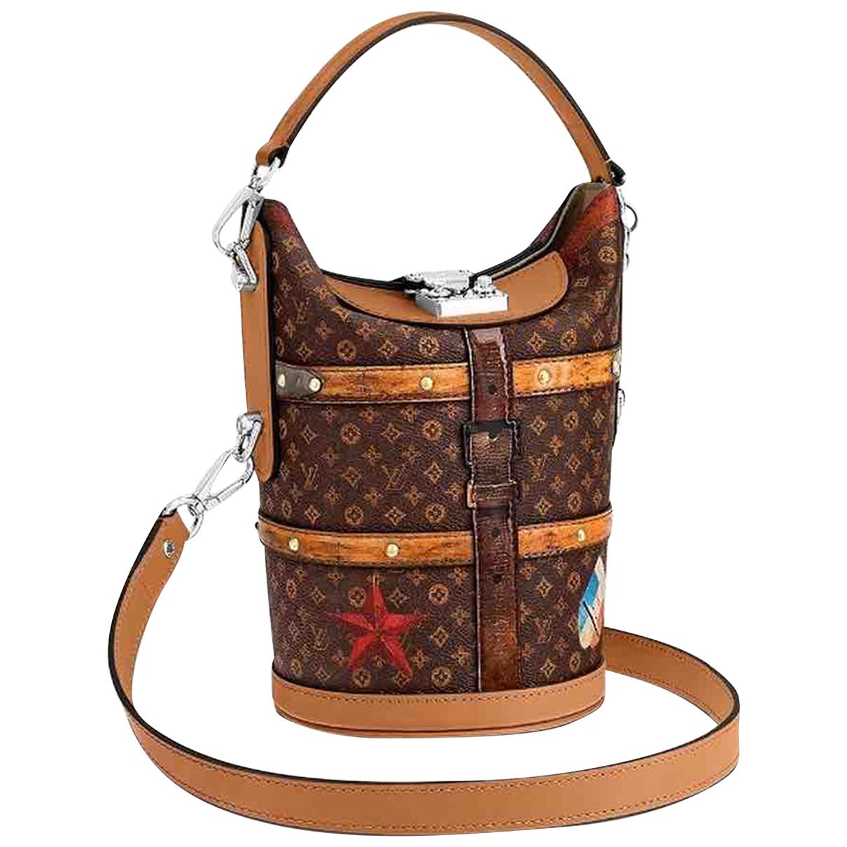 Louis Vuitton Duffle Handtasche in  Bunt Leder