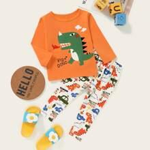 Homewear de niño pequeño Dibujos animados Dulce