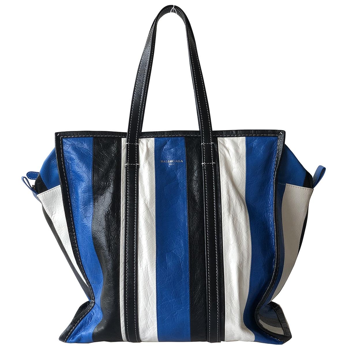 Balenciaga - Sac a main Bazar Bag pour femme en cuir - bleu
