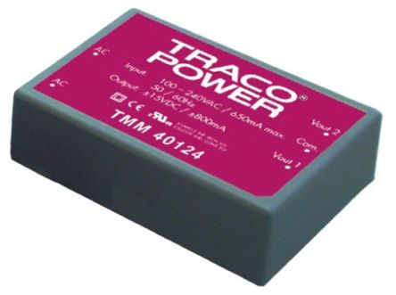 TRACOPOWER , 40W Embedded Switch Mode Power Supply SMPS, 5V dc, Encapsulated, Medical Approved