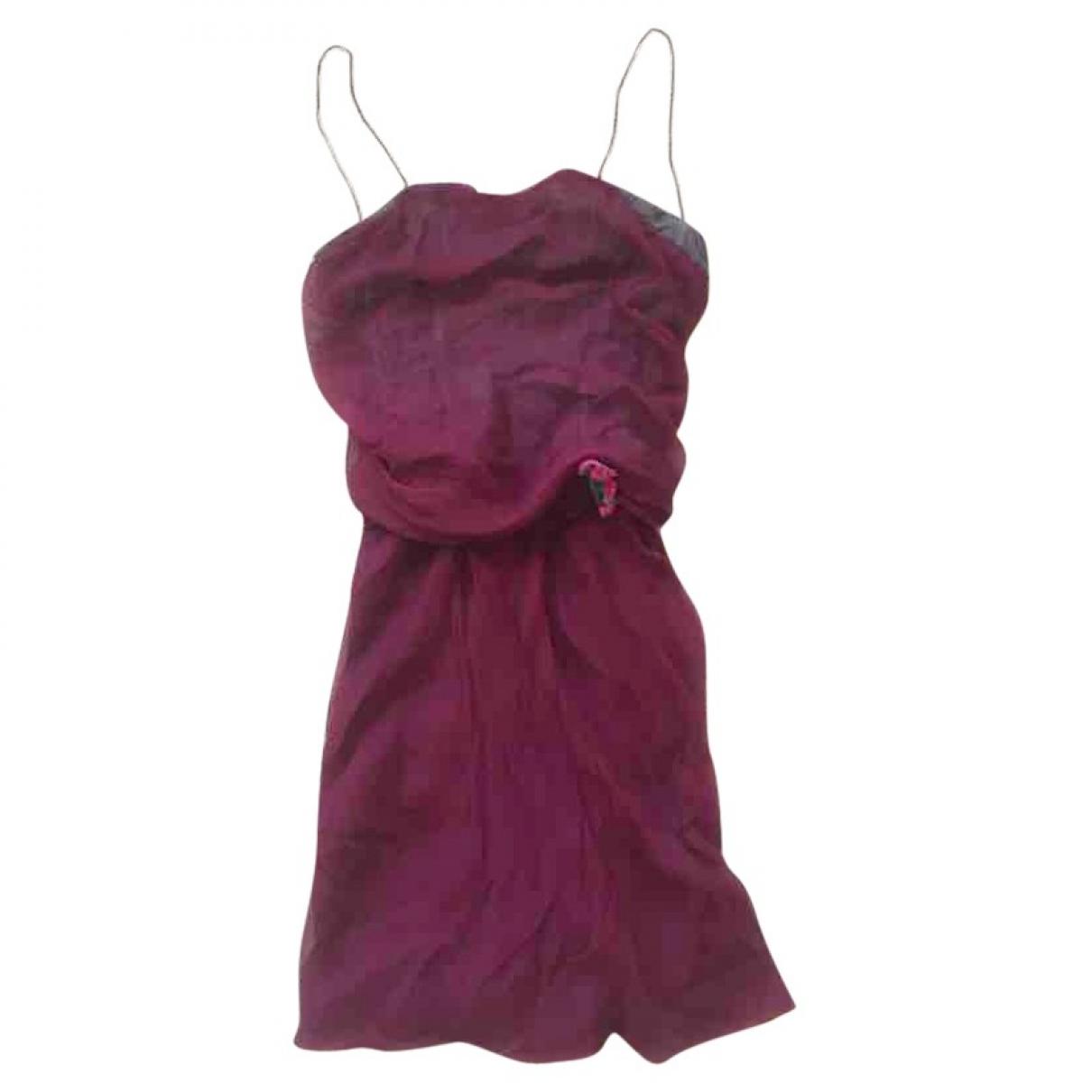 Dolce & Gabbana \N Kleid in  Bordeauxrot Seide