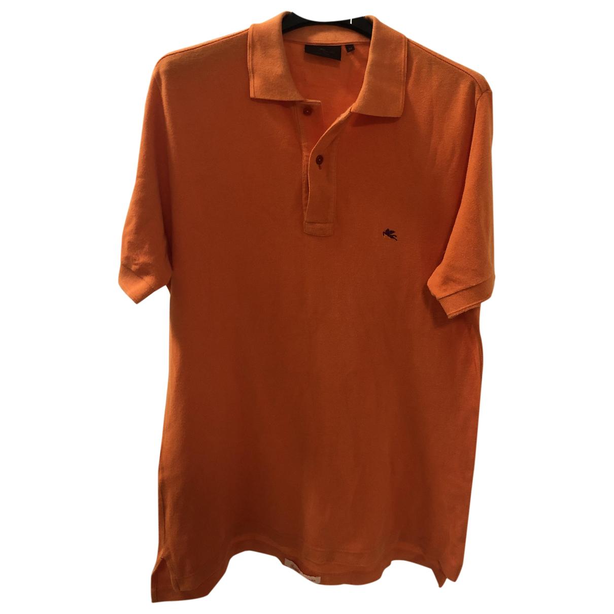 Etro - Polos   pour homme en coton - orange